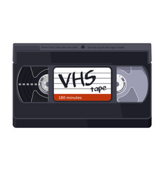 Vintage classic vhs tape on white background vector