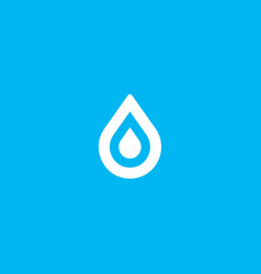 water aqua drop element logo icon symbol vector image