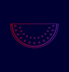 watermelon sign line icon with gradient vector image