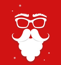 white santa claus mask on red background vertical vector image