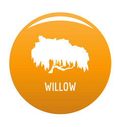 Willow tree icon orange vector