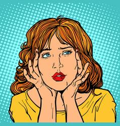 woman has a headache vector image