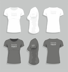Womens t-shirt vector