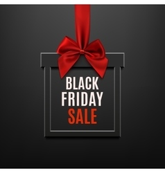 Black Friday sale square banner in form of gift vector image