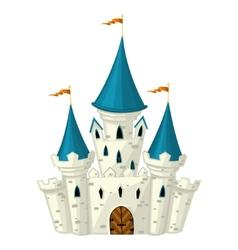 cartoon fairytale castle vector image