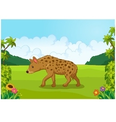 Cartoon hyena from the side vector image vector image