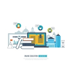 Online education training courses university vector image vector image