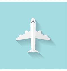 Plane flat web icon vector image