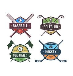 Sport Emblems 2 vector image vector image