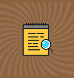 documents magnifier glass icon simple line vector image