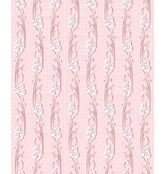 floral seamless lace pattern with flowers vector image vector image