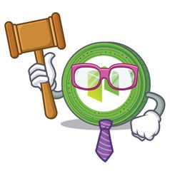 Judge neo coin character cartoon vector