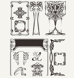 Set Of Art Deco Elements vector image