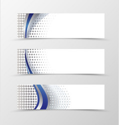 Set of banner design vector image
