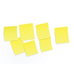 yellow sticky notes on white background vector image
