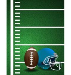 American Football Helmet and Ball vector image vector image
