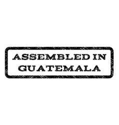 assembled in guatemala watermark stamp vector image