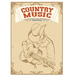 Musician playing guitarCountry music festival vector image vector image