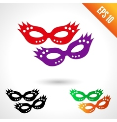 Party masquerade masks vector image