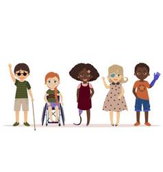 Special needs children children with disabilities vector