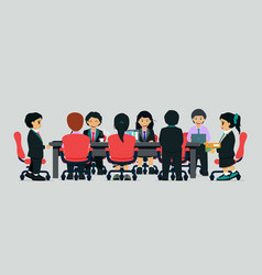 young businessmen meeting vector image vector image