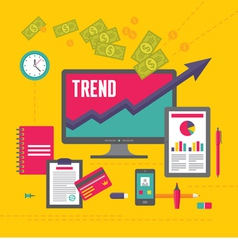 Business Trend in Flat Design Style vector image vector image