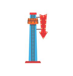 cartoon of free fall or drop tower vector image