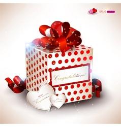 elegant valentines gift vector image vector image