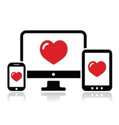 Responsive design for web computer screen icon vector image vector image