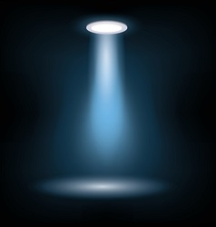 stage light on black vector image