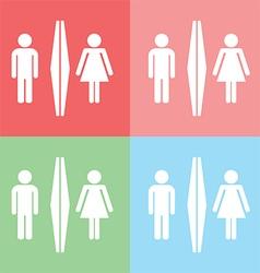 1408 Toilet icon vector image vector image