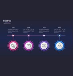 4 steps infographic design timeline chart vector image