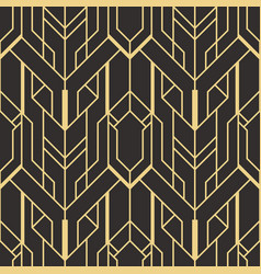 abstract art deco seamless pattern 01 vector image
