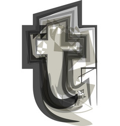 abstract letter t vector image