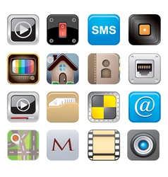 Apps icon set one vector