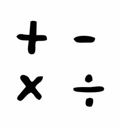 Basic mathematical signs vector