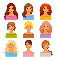 Beautiful and young girls vector image
