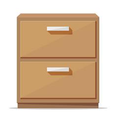 Bedroom locker furniture interior isolated vector