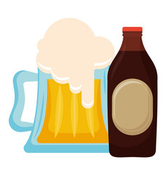 beer jar with bottle vector image