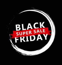 black friday banner sale design template vector image
