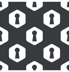 Black hexagon keyhole pattern vector