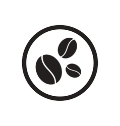 Black icon on white background coffee beans vector