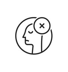 black thin line dismissal round logo vector image