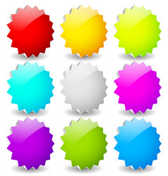 blank starburst shapes price flashes set of 9 vector image