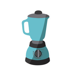 blue color silhouette of kitchen blender vector image