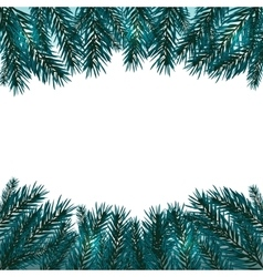Blue realistic fir branches Fir branches with vector