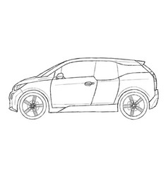 bmw i3 vector image