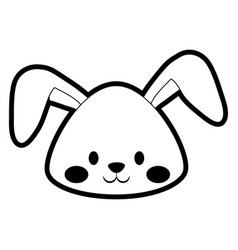 Cartoon cute rabbit icon vector