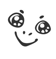 cartoon smiling muzzle vector image