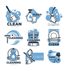 cleaning service isolated icons clean tools for vector image